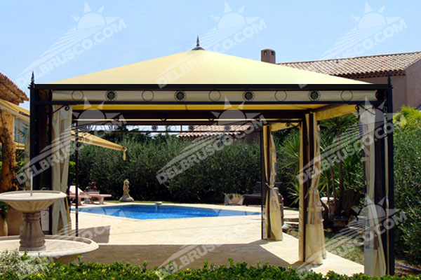 Gazebo Ferro Battuto Ischia In e Out Plus