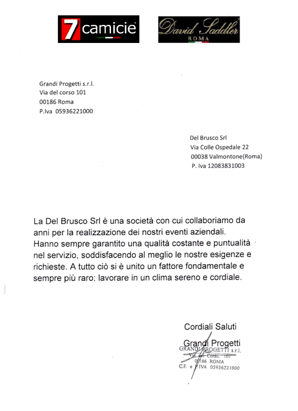 Referenza Grandi Progetti Srl