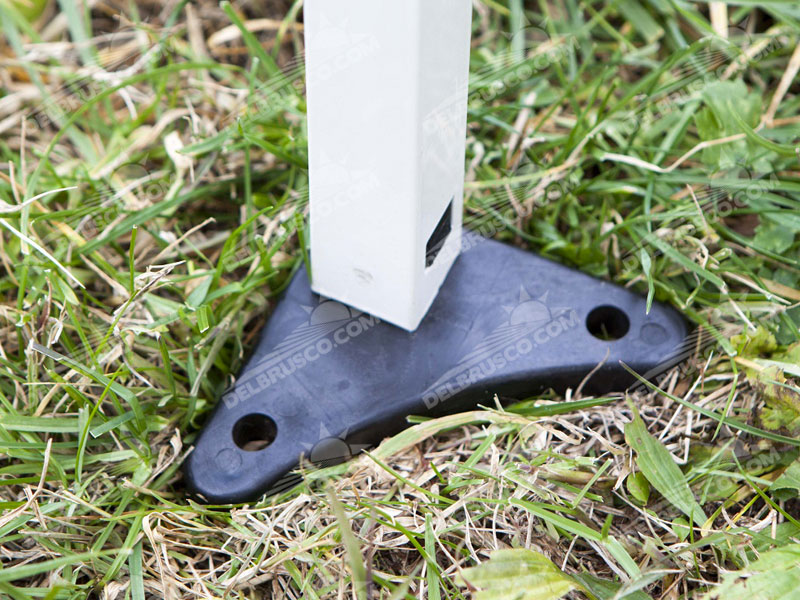 gazebo pieghevole in acciaio base in acciaio con fori