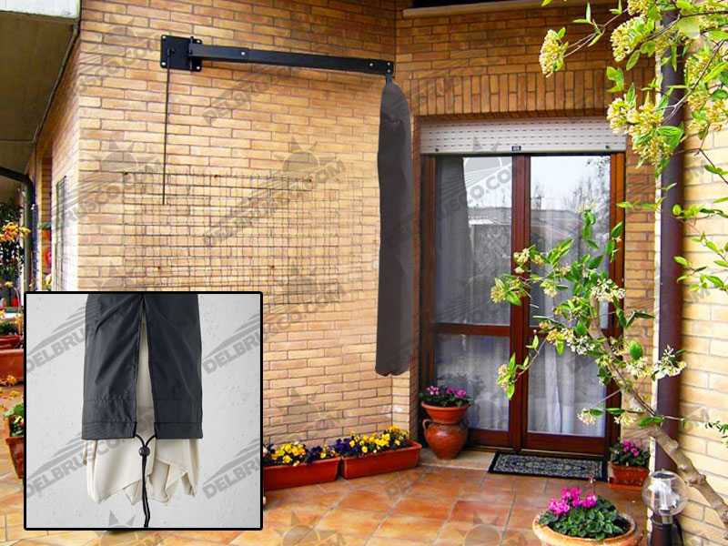 custodia di protezione ombrellone pensile a parete