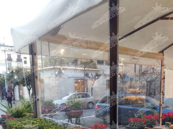 ombrellone chiusura laterale cristal napoli
