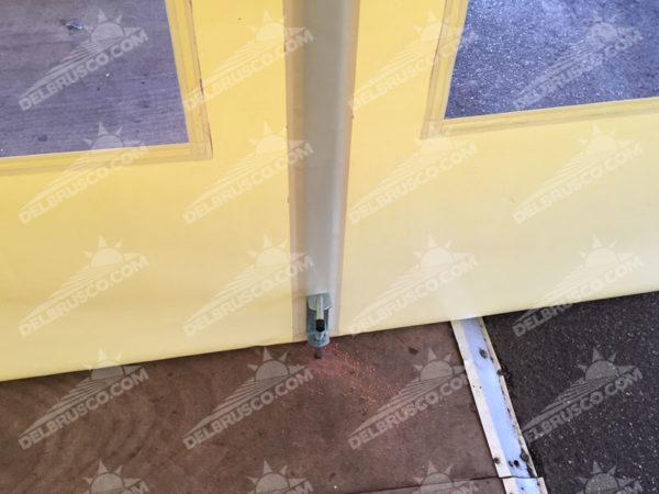 ombrellone con chiusura laterale e fermo zip