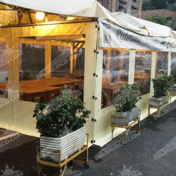 ombrellone chiusura laterale ristorante