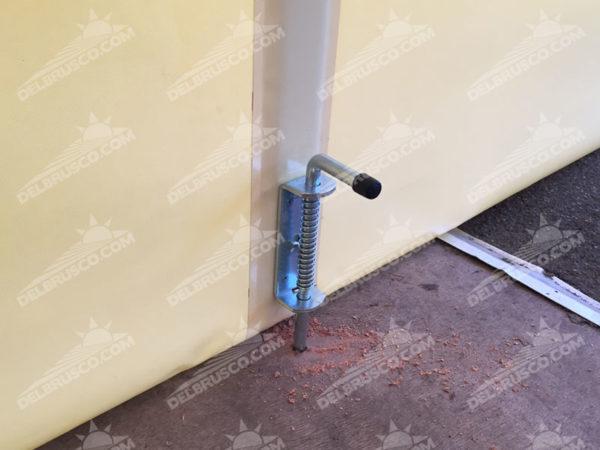 ombrellone con chiusura in pvc con bloccaggio