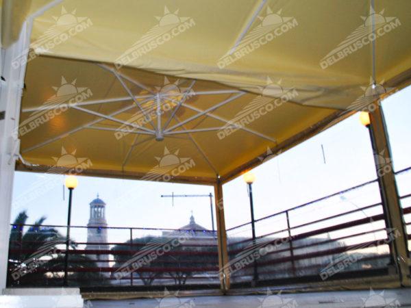 ombrellone laterale pvc