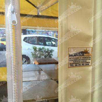 ombrellone laterale pvc chiusura zip