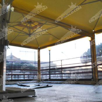 ombrellone laterale trasparente