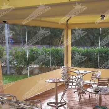 ombrellone parete laterale cristal napoli