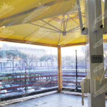 ombrellone laterale cristal trasparente