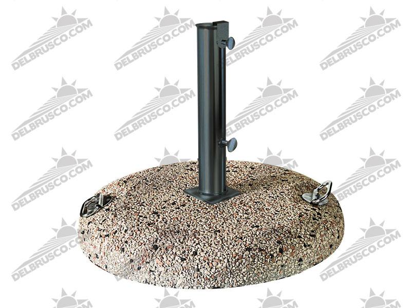 piedistallo ombrellone verniciato graniglia cemento