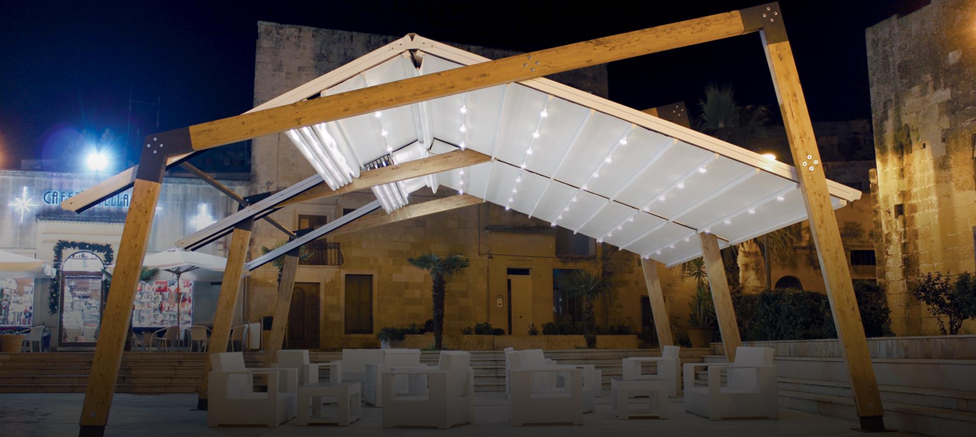 strutture per coperture esterno locali commerciali