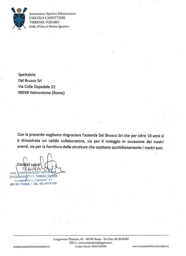 Referenza ASD Circolo Canottieri Tirrenia Todaro