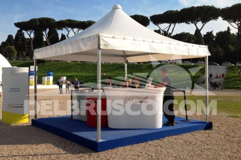 gazebo evento poste italiane